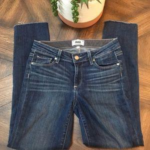 Paige Skyline Skinny raw hem jeans. Sz 27